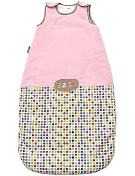 TuoMio Baby Schlafsack - bunte Punkte Schlafsack - von 8 bis 18 Monate - 90cm - Ganzjahres Schlafsack - 100% Baumwolle