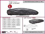 Proposteonline portabagagli Box Tetto Auto 193 x 74 x 37 cm per Toyota Yaris Verso 1999  con Barre Portapacchi portatutto gz77nd