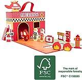 Furtwängler Koffer Feuerwehr mit Spielfiguren und Feuerwehrauto 13 Teile