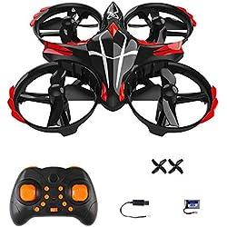 2.4G Mini Drones Sin Cabeza Quadcopter Rc Drone Con Brillante Led Para Niños y Regalos Para Principiantes, Control De Inducción Interactiva Infrarroja, Fácil De Volar, 3 Modos De Velocidad, 360 Grados