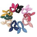 Ewandastore 10pcs Rabbit Ears Hair Bands Rubber Band Hair Rope Hair Jewelry Hair Ring Headwear Hair Circle Hair...