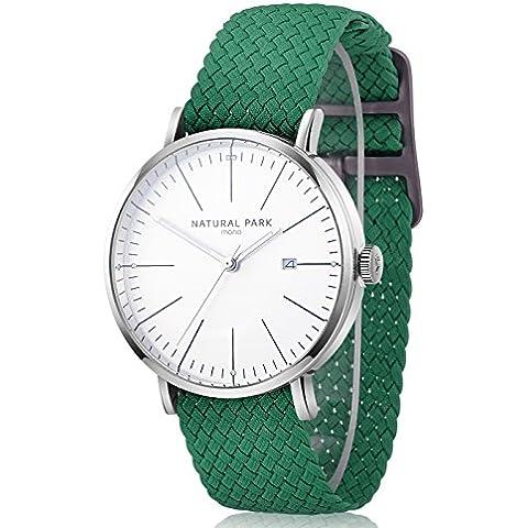 Uomini e donne casual orologi con cinturino in nylon