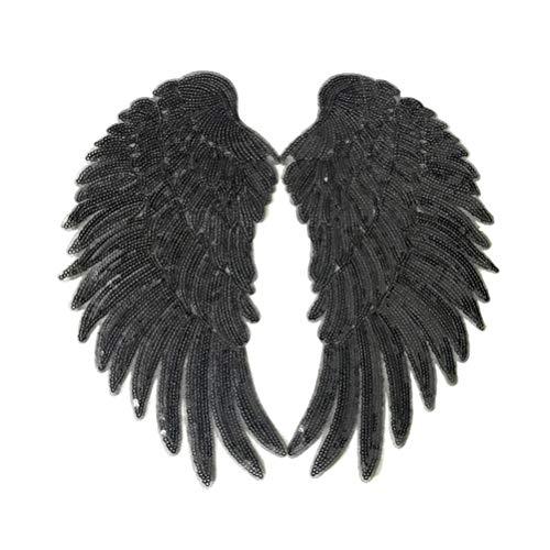 LIOOBO 1 par de Parches Bordados de alas de ángel