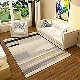 Liveinu Modern Teppich mit Anti-Rutsch Unterstützung Abwaschbarer Kurzflor Teppich Geometrisch Fußmatten für Wohnzimmer, Esszimmer, Schlafzimmer oder Kinderzimmer 200x250cm