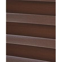 DECORACION NUEVO ESTILO-Estor enrollable TRACERY de doble rollo tipo Noche y Dia, color 16 Marron medidas 105 x 250 (varias medidas y colores)