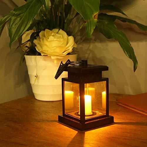 Ruitx 2pcs Sonnen Laterne Hängen, Garten Kerzen Laterne, Warmes Weißes Kerzen Flimmern, Auto Sensor Auf