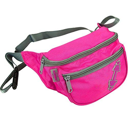 C.P. Sports Gürteltasche, Bauchtasche, Hüfttasche in 9 Farben - Doggy Bag, Waistbag für Damen und Herren Sport und Outdoor (Pink-Logo)