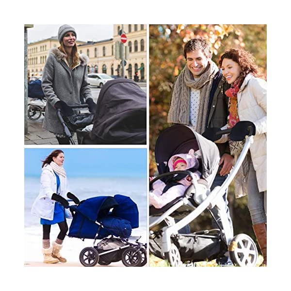"""Stroller Hand Muff, Dreamiracle Winter Warm Waterproof Gloves for Parents, Baby Pram Stroller Accessory, Anti-Freeze, Black Dreamiracle 【Warm Reminder】The Dreamiracle Stroller Hand Muff is SOLD BY """"Dreamiracle EU"""" Originally, Please choose the RIGHT Sellers and boycott the FAKE items from """"other sellers""""! We committeed to provide you the highest quality product and best customer service. If you're unhappy with our product, please feel free to contact us! 【Top Quality and Durable】Made of top-class and soft material, the hand muff is breathable and not easy to be out of shape. Thicker design make it waterproof and windproof, ensuring to keep your hands warm even in the cold winter days while outdoors without being restricted. 【Convenient to Use】Large size(7.5*12.2*1.2 in) makes it wide enough for you to put your hands with your coat into the glove, more convenient than pulling off mittens each time you need free your hands. 7"""