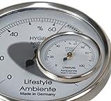 Lifestyle-Ambiente Profi - Haar - Hygrometer silber-groß Made in Germany