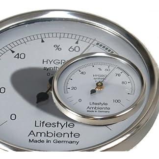 Estilo de Vida Ambiente–Higrómetro de Pelo Profesional de Plata pequeño Fabricado en Alemania.