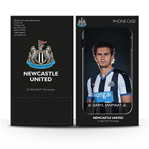 Offiziell Newcastle United FC Hülle / Matte Snap-On Case für Apple iPhone 4/4S / Saivet Muster / NUFC Fussballspieler 15/16 Kollektion Janmaat