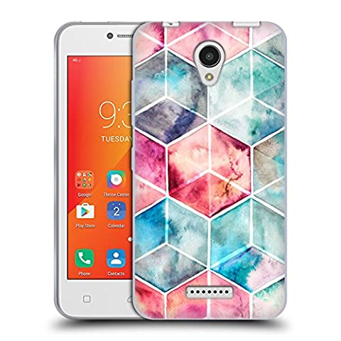 Offizielle Micklyn Le Feuvre Hexagon Kuben Muster 6 Soft Gel Hülle für Lenovo A Plus