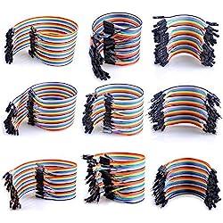 Cables Arduino Dupont 360 Pcs, de UCEC® Jumper Cable de Puente BreadBoard Jumper 40 Pines de hembra a hembra - 40pines hembra a macho - 40pines macho a macho, Pack Familiar de Diferentes tamaños