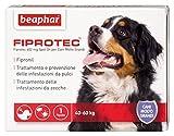 Beaphar Fiprotec cane Antiparassitario soluzione spot on con principio attivo Fipronil, contro pulci e zecche per cani grandi (20-40 kg) - 1 pipetta
