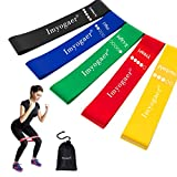 Resistance Loop Bands Set von 5 Übung Bands Yoga Bands Widerstand Bands Gym Gummiband Verwendung mit Yoga, Pilates, Cross Fit, Home Übung von MG MULGORE