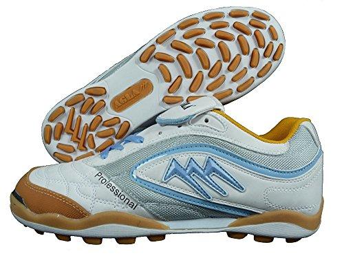 AGLA , Chaussures pour homme spécial foot en salle white/celeste