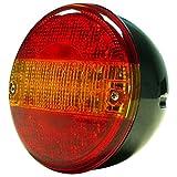 Tralert LED Kombi Rückleuchte Heckleuchte Rücklicht Rot und Orange Rund 140ESTIM