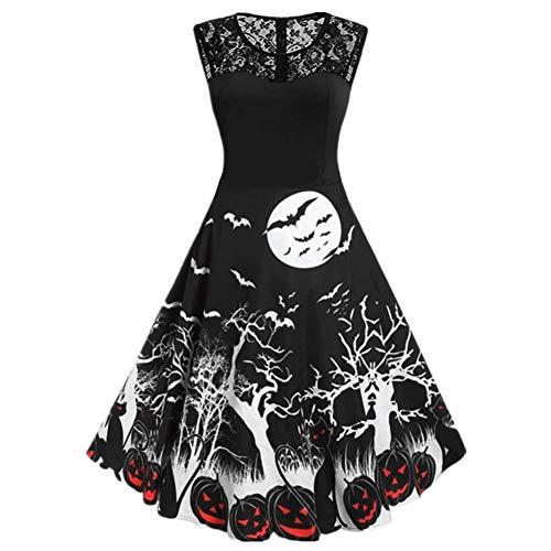 Quinn Kostüm Krankenschwester Harley - SHOPZZ Halloween Kostüm Halloween Kostüme Für Damen Kürbis Party Ärmelloses Kleid A Line Swing Dresses Halloween, M