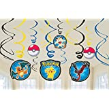 Amscan International – 671844 Pokémon espirales colgantes de decoración