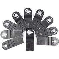 Pack de 10cuchillas de corte de 35mm de madera para Bosch, Fein Multimaster, colores, Makita, Milwaukee, Einhell, ergotools, Hitachi