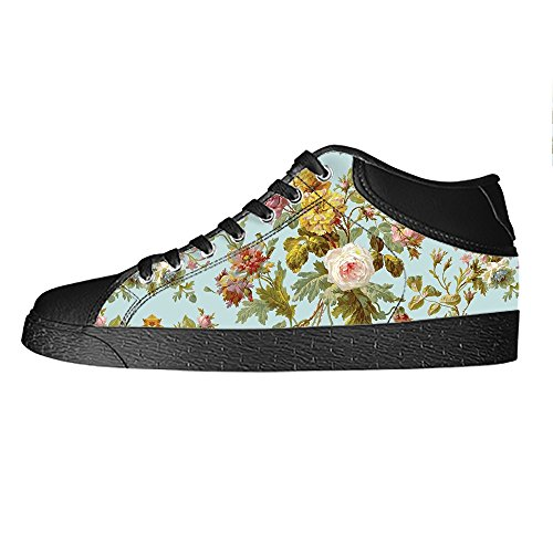Dalliy Floral Flower Men's Canvas shoes Schuhe Lace-up High-top Sneakers Segeltuchschuhe Leinwand-Schuh-Turnschuhe B