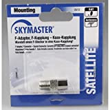 Skymaster AKK Adapter, F-Kuppplung auf Koaxial-Stecker Schwarz