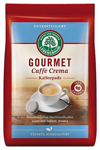 Lebensbaum Bio Gourmet Caffè Crema, entkoffeiniert, Pads, 126 g