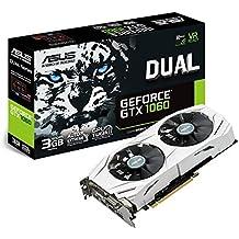 ASUS DUAL-GTX1060-3G - Tarjeta gráfica (Dual, NVIDIA GeForce GTX 1060, 3 GB, GDDR5, HDMI, DVI, DP)