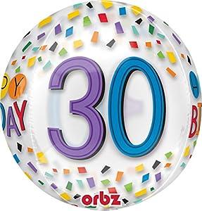 Amscan International 3516901 Happy 30th Birthday - Globo, diseño de arcoíris