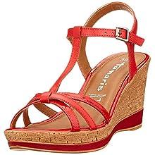Tamaris 1-1-28347-24, Women's T-Bar, Red (Red 500), 6.5 UK (40 EU)