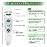 HealthSense Accu-Scan Forehead and Ear Digital Infrared Thermometer for Babies and Adults with 1S Fast Reading, Fever Indicator and Mute Mode (White)