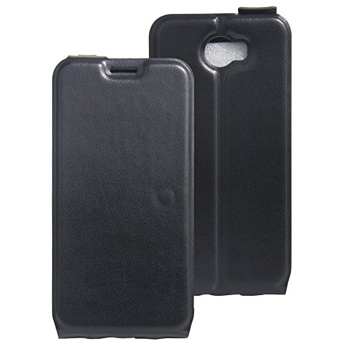 COVO® PU+TPU Kunstleder Brieftasche Hülle für Archos 50 Cobalt mit Stand Funktion (Schwarz)