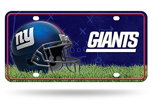 New York Giants Nfl-auto (Rico NFL New York Giants Metall License Plate Tag, 15,2 x 30,5 cm Multicolor)