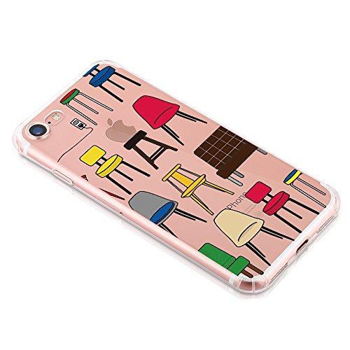 Qissy®TPU Case für iPhone 7 Silikon-Hülle Soft Shell-Fall-Schutz Anti Shock Silikon Anti-Staub-beständig Leichtes Ende mit Glänzende Einzigartiges Persönlichkeitsdesign (iPhone 7 4,7 Zoll, 5) 8