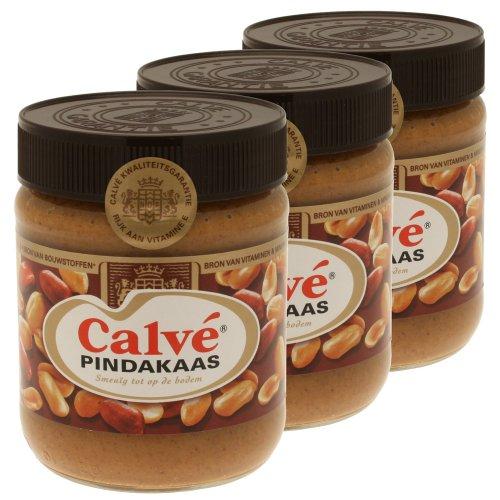 calve-pindakaas-beurre-de-cacahuetes-pate-a-tartiner-arachides-pot-3-x-350g