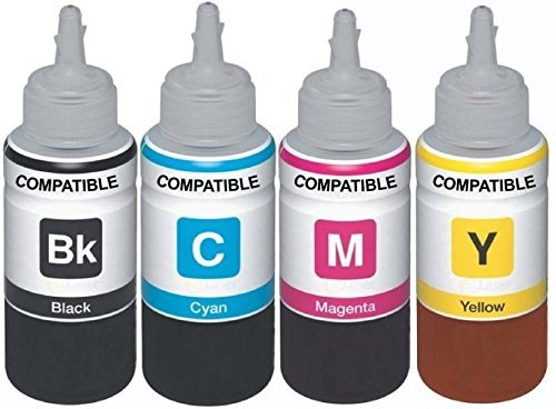 PPS Refill Ink for Use in Canon PIXMA Ink Tank Printers G1000, G2000, G2002, G3000, G4000 - Cyan, Magenta, Yellow & Black - 100 ml Each Bottle