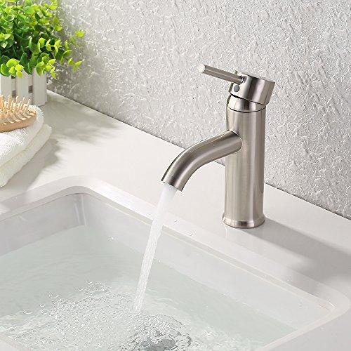 KES Vanity Badezimmerarmatur, modernes Design - Regular - Brushed Nickel