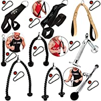 C.P.Sports One Hand Triceps Rope + Carabiner, Bodybuilding Fitness Strength Training Gym Accessories