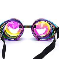 Gaddrt Kaléidoscope verres rave Festival Party EDM lunettes de soleil diffracté Lens (Rouge) laXlmpSnL