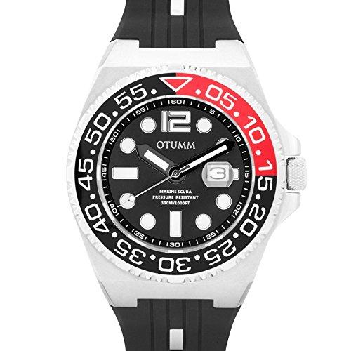 Otumm Scuba Edelstahl 01 Schwarz 52mm SaphirGlas Unisex Scuba Armband Uhr