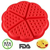 ZTSY Bakeware High Quality Silicone Waffle Baking Molds Mini Heart Waffle Mold Muffin Mould,Red