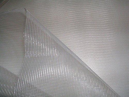 Toile tissus MOUSTIQUAIRE blanc polyester souple au metre largeur 195 cm