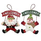 Best Gardeningwill decoraciones de Navidad - Juego de 2Decoraciones de Navidad de Bienvenida Satanás Review