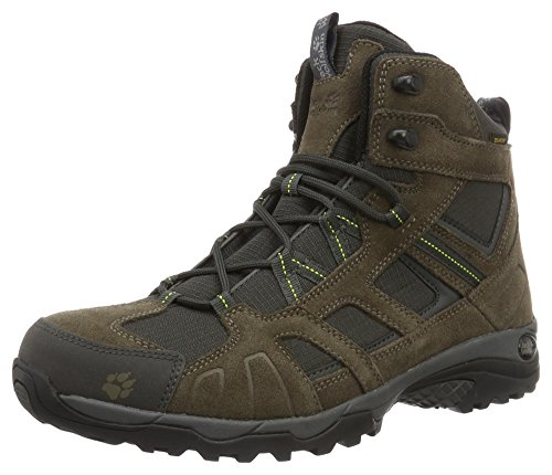 Jack Wolfskin Herren Vojo Hike Mid Texapore Men Trekking-& Wanderstiefel, Braun (Flashing Green), 43 EU (Western-boot Ferse)