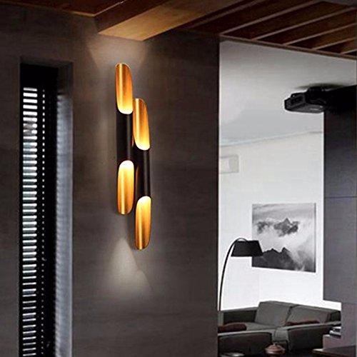 MDERTY LED Wandleuchte Antique Wandleuchte Oblique Aluminium Bambus Nachttischlampe Gang lange Doppel-LED Moderne Wandleuchte Leuchten für Wohnzimmer Schlafzimmer Badezimmer Küche Esszimmer -