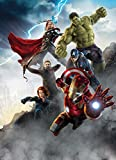 Fototapete AVENGERS, AGE OF ULTRON 184x254 Marvel Comic-Helden Hulk Thor Ironman Black Widow Captain America Hawkeye