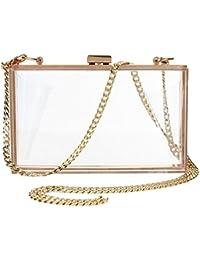 79a12ab86b228 Women Cute Transparent Clear See Through Box Clutch Acrylic Evening Handbag  Cross-Body Purse Bag