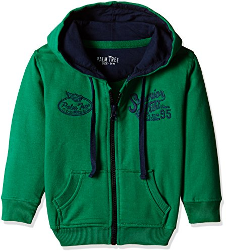 Palm Tree Baby Boys' Jacket (131092689047 1350_Green_6-12 Months)