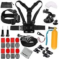 Gurmoir Outdoor Hiking Cycling Sports Action Camera Accessories Kit for GoPro Hero 7 Black/6/5/4Session5/4/SJ4000/SJ5000/SJ5000X/SJ6/SJCAM/AKASO/APEMAN and More Action Cameras(GT01)