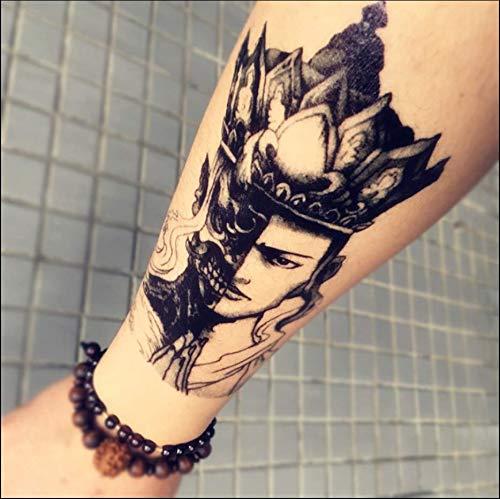 Gut Und Böse, Dunkler Wind Blume Arm Tattoo Aufkleber, Buddha, Dauerhafte wasserdichte, Männliche Und Weibliche Arme, Simulation, Tätowierung, Schwarz Und Weiß ()